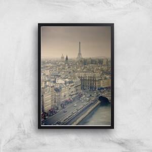 Streets Of Paris Giclee Art Print
