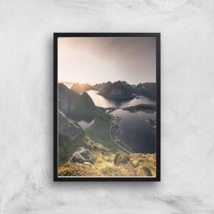 Lakes Amongst Mountains Giclee Art Print
