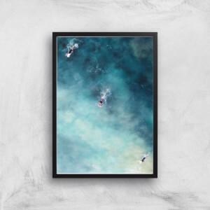 Surfing Trio Giclee Art Print