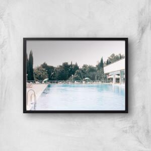 Pool Side Giclee Art Print