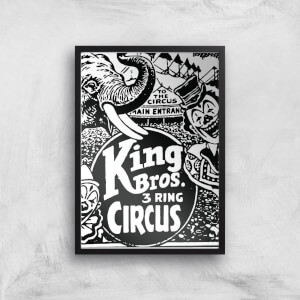 King Bros 3 Ring Circus Giclee Art Print