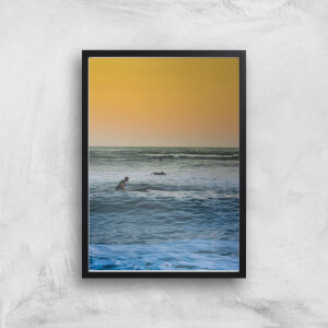 Sunset Surf Giclee Art Print