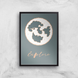 Explore Map Giclee Art Print