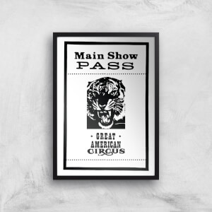 Main Show Pass Great American Circus Giclee Art Print