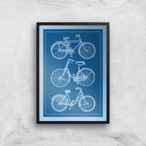 Bike Diagram Giclee Art Print