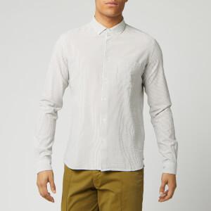 YMC Men's Dean Shirt - Olive/Ecru