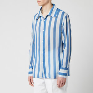 Our Legacy Men's Soul Shirt - Blue Blur Stripe