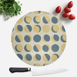 Moon Phase Pattern Round Chopping Board