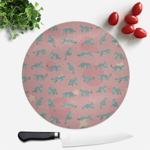 Cosmic Leopard Round Chopping Board