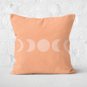 Abstract Moon Phase Square Cushion