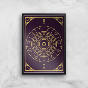 Decorative Planet Symbols Giclée Art Print