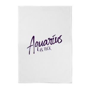 Aquarius As Fuck Cotton Tea Towel