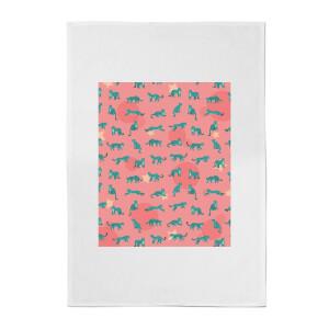 Cosmic Leopard Cotton Tea Towel