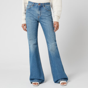 Victoria, Victoria Beckham Women's Super High Flare Jeans - Azure Blue