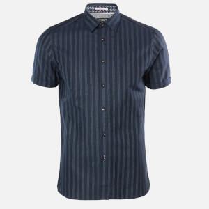 Ted Baker Men's Handeez Dotted Stripe Shirt - Navy