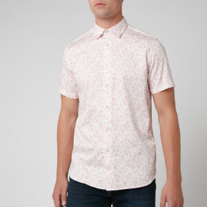 Ted Baker Men's Krosa Leaf Print Shirt - Coral