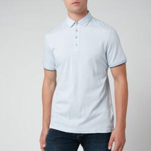 Ted Baker Men's Soya Herringbone Polo Shirt - Blue