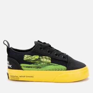 Vans X National Geographic Toddlers' Old Skool Elastic Lace Trainers - Photo Ark