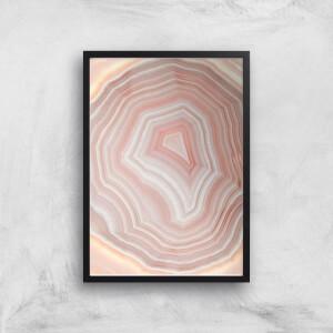 Coral Quartz Giclee Art Print