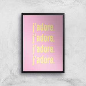 J'adore J'adore J'adore J'adore Giclee Art Print