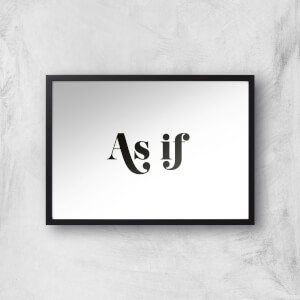 As If Giclee Art Print