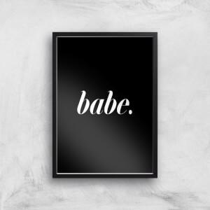 Babe Black Giclee Art Print