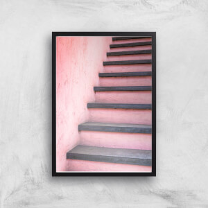 Stair Way To Pink Giclee Art Print