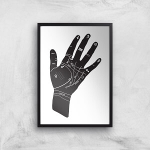 Palmistry Hand Symbols Giclee Art Print