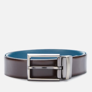Ted Baker Men's Cooks Reversible Leather Belt - Chocolate