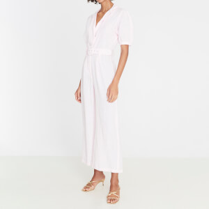 Faithfull the Brand Women's Frederikke Boilersuit - Ice Pink
