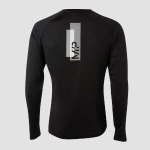 Printed Training Long Sleeve för män – Svart
