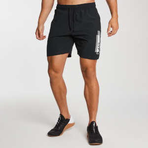 Men's Printed Training Shorts - Black
