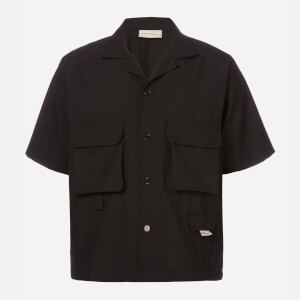 Drôle de Monsieur Men's Wool Utility Shirt - Black