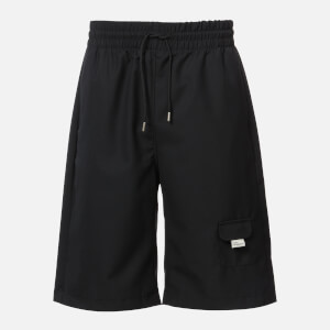 Drôle de Monsieur Men's Wool Oversize Shorts - Black