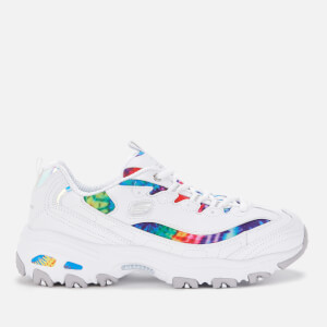 Skechers Women's D'Lites Summer Fiesta Trainers - White/Tie Dye