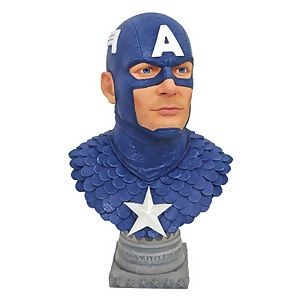 Diamond Select Marvel Legends In 3D Comic Captain America 1/2 Scale Bust
