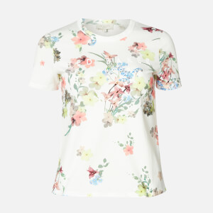 Ted Baker Women's Lileeyy Pergola Branded T-Shirt - Ivory