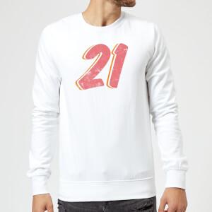 21 Distressed Sweatshirt - White