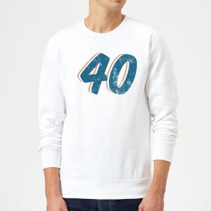 40 Distressed Sweatshirt - White