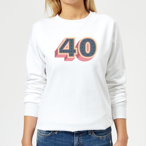 40 Dots Women's Sweatshirt - White