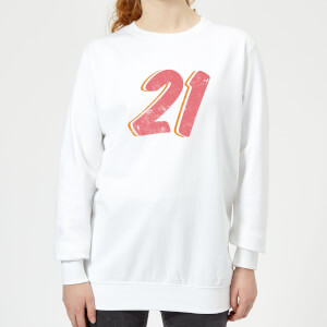 21 Distressed Women's Sweatshirt - White