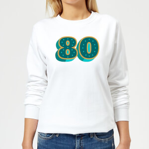 80 Dots Women's Sweatshirt - White