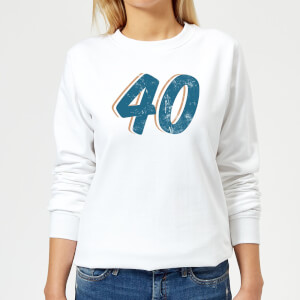 40 Distressed Women's Sweatshirt - White