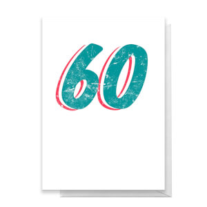 60 Distressed Greetings Card