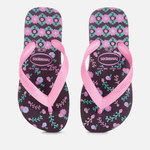 Havaianas Kids' Flores Flip Flops - Aubergine