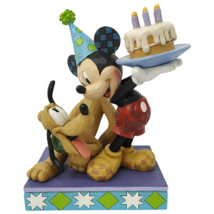 Disney Traditions Pluto and Mickey Birthday Figurine 18cm