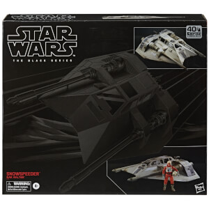 Hasbro Star Wars The Black Series Snowspeeder Vehicle and Dak Ralter Figure