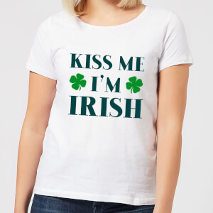 Kiss Me I'm Irish Women's T-Shirt - White