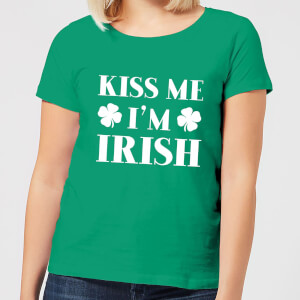 Kiss Me I'm Irish Women's T-Shirt - Kelly Green