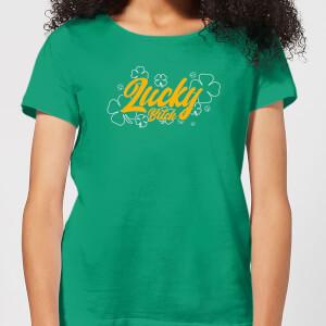 Lucky Bitch Women's T-Shirt - Kelly Green
